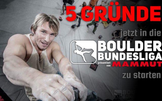 5 Gründe, jetzt in die Boulder Bundesliga einzusteigen