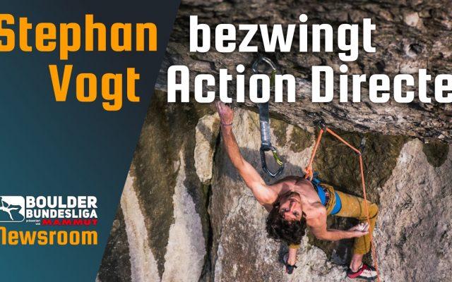 Stephan Vogt klettert »Action Directe«