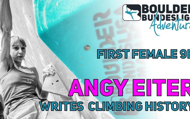 First female 9b by Angy Eiter
