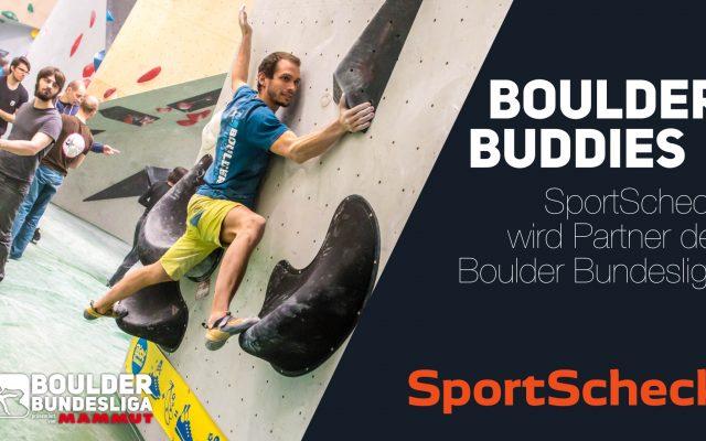Boulder Buddies: SportScheck neuer Partner der Boulder Bundesliga