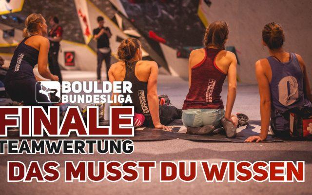So wird das Team-Finale der Boulder Bundesliga