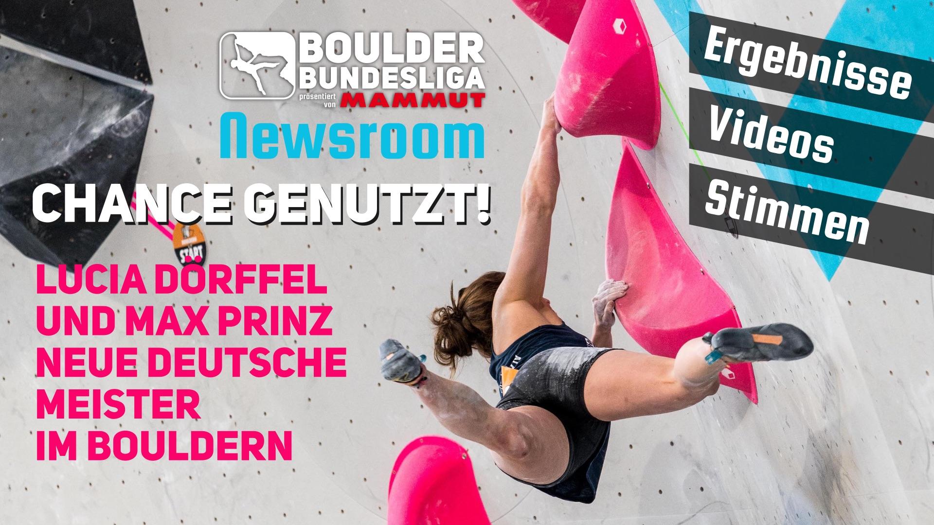 Überraschungen in Gold – Deutsche Meisterschaften Bouldern